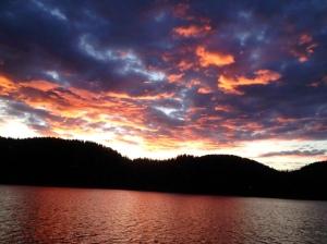 cloud and lake